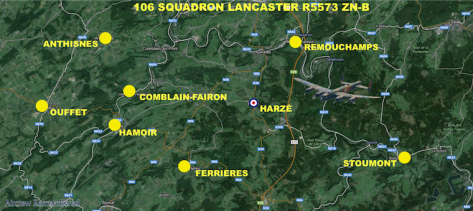 106 squadron lancaster i r5573 zn b crash location